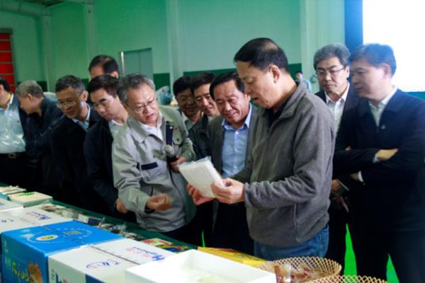 全国人大常委会副委员长武维华率考察团参观中鲁远洋公司